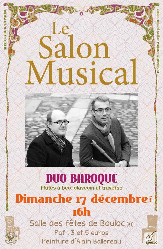 BOULOC - LE SALON MUSICAL - DIMANCHE 17 DÉCEMBRE 2017 - PEINTURE D'ALAIN BALLEREAU