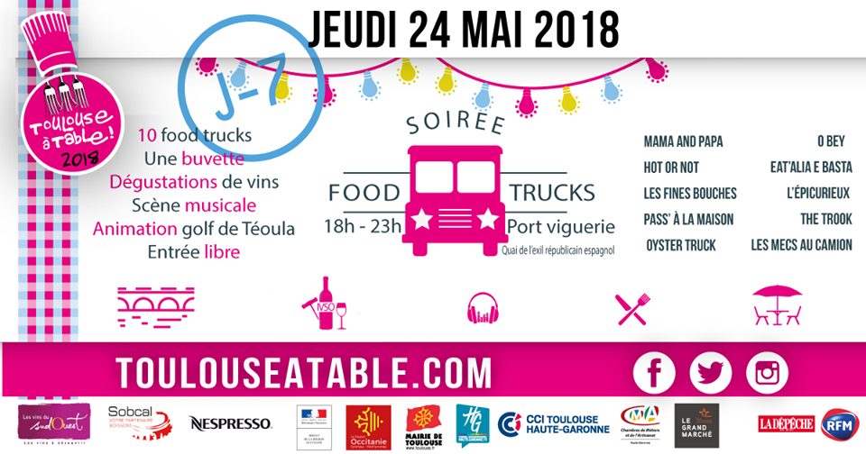 TOULOUSE A TABLE - JEUDI 24 MAI 2018