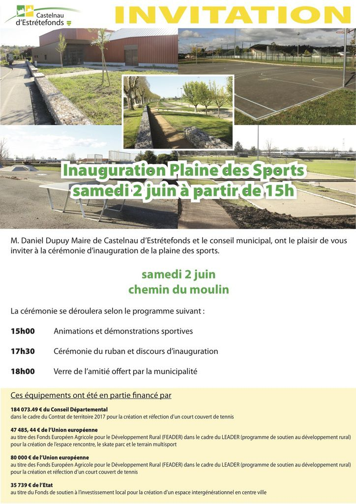 CASTELNAU D'ESTRETEFONDS - INAUGURATION DE LA PLAINE DES SPORTS