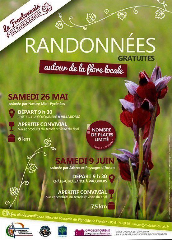 VILLAUDRIC - RANDONNÉE AUTOUR DE LA FLORE SAMEDI 26 MAI 2018 ET 9 JUIN 2018