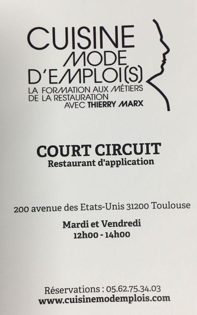 RESTAURANT D'APPLICATION COURT-CIRCUIT - CUISINE MODE D'EMPLOI(S) AU GRAND MARCHE MIN TOULOUSE OCCITANIE