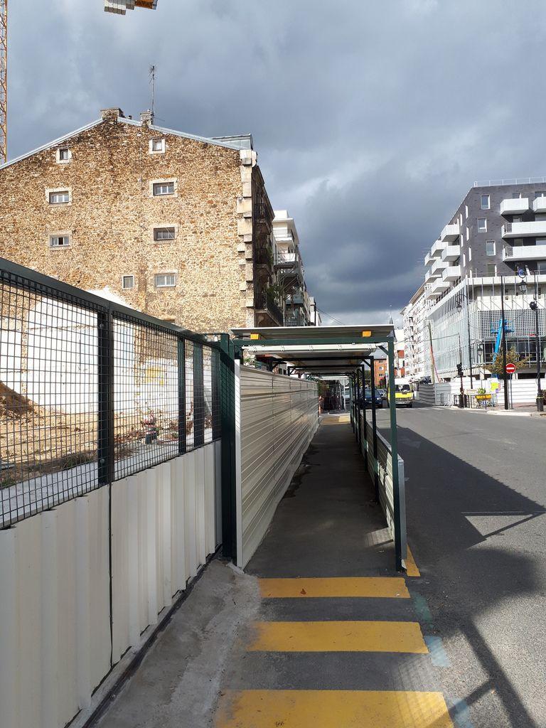 Joinville le pont en 2017 . Mutations urbaines. Rue de Paris . Photo de © Eric Dubois - DR