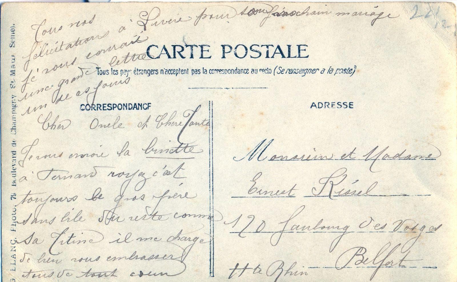 Fernand Bezançon, mari de Titine. Rue du Viaduc, Joinville le pont ? -DR
