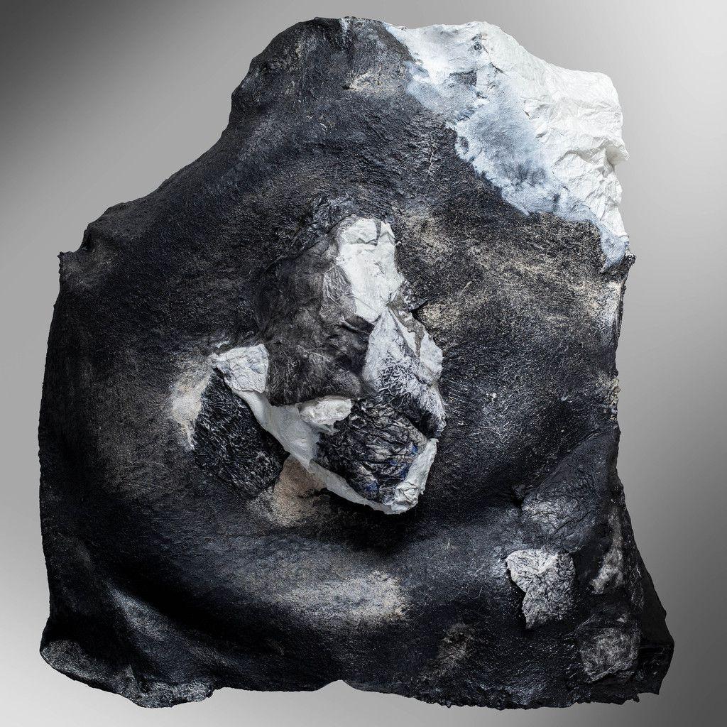 Cielo - cycle des origines - acryl et charges minérales et métalliques sur papiers mixtes - 100 x 110 - 2015/2016