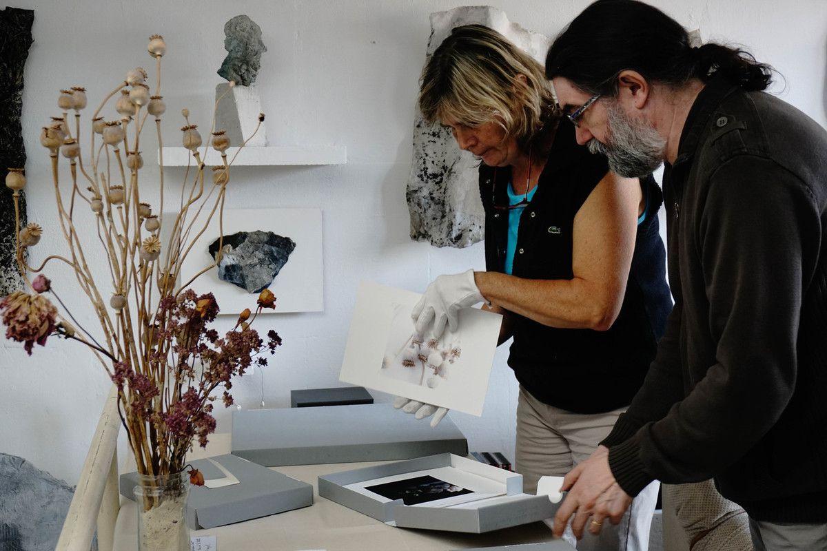 Avec Marie-France Chevalier à l'atelier - photographie Valérie Berge