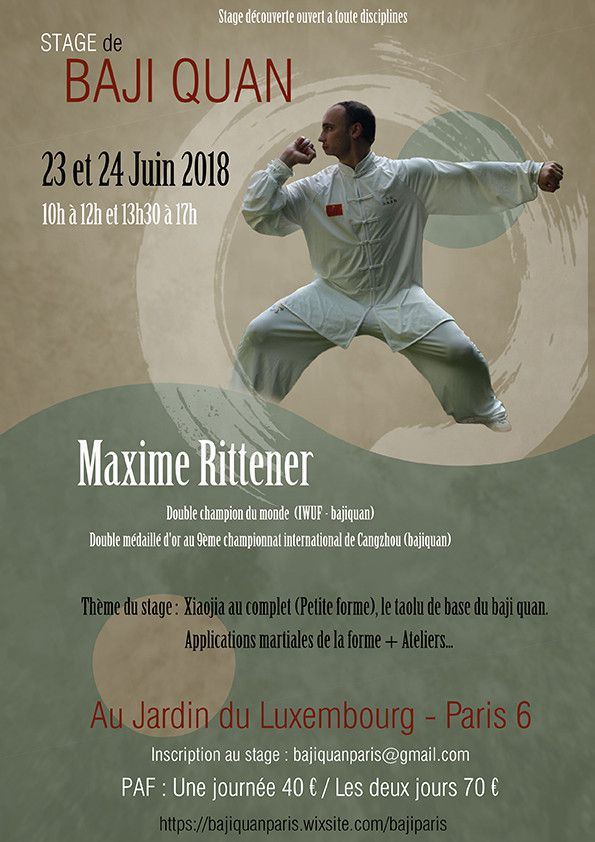 Stage Bajiquan// 23&24 Mai // PARIS
