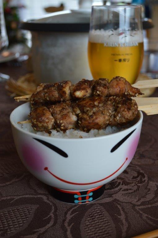 Yakitori de poulet aux épices