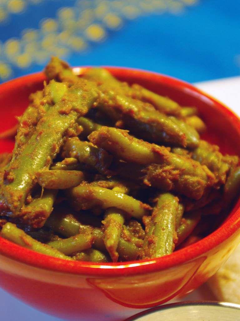 Recette vegetarienne Haricots verts aux épices