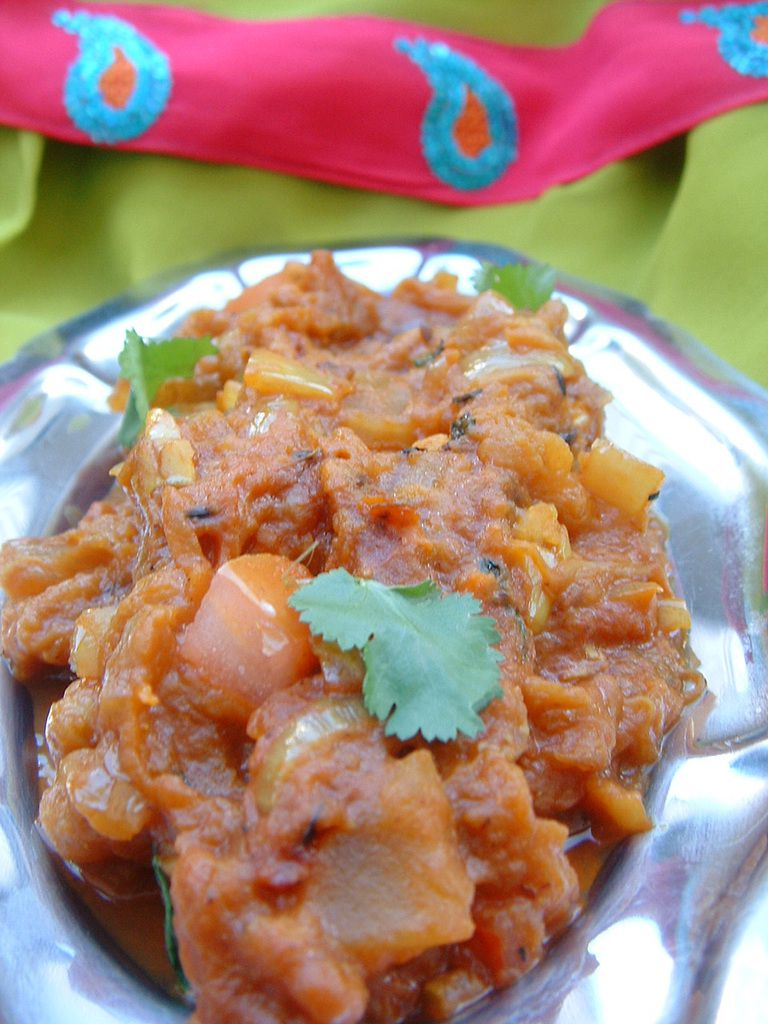 Caviar d'aubergine façon indienne
