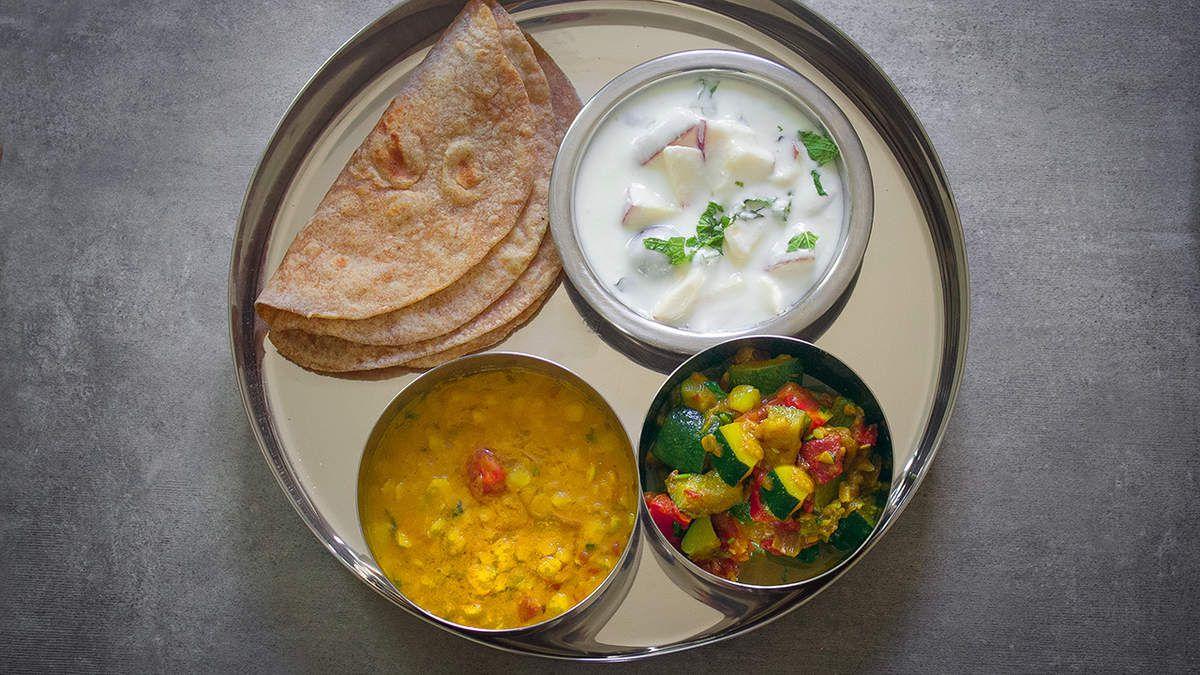 Thali indien végétarien
