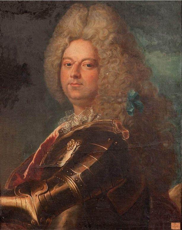 École française du XVIIIe siècle d'après Hyacinthe Rigaud, portrait du duc de Sully, v. 1712. Coll. part © Aguttes svv