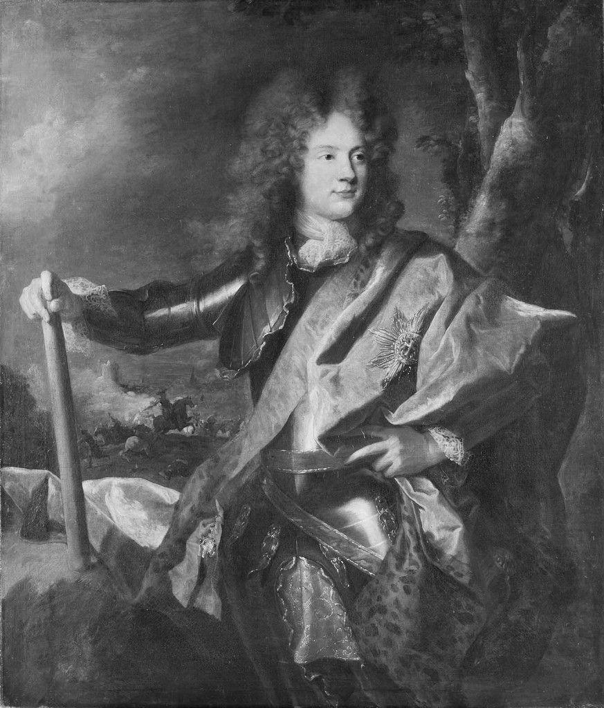 Hyacinthe Rigaud, portrait de Christian Gyldenloeve Danneskjold, 1693. Dannemark, château de Fredericksborg © d.r.