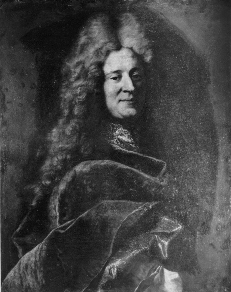 Hyacinthe Rigaud et atelier : portrait de gentilhomme (A), v. 1710. Coll. part. © d.r