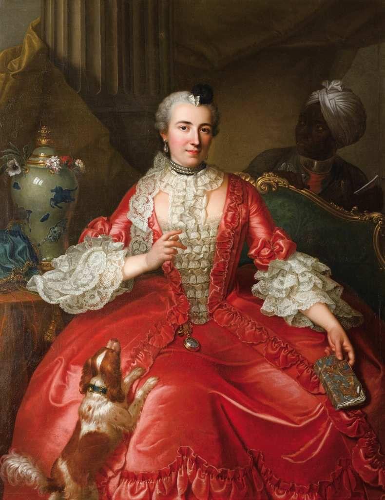 Michel-Hubert Descours - portrait de Madame Descours, née Fabre, 1746 © d.r.
