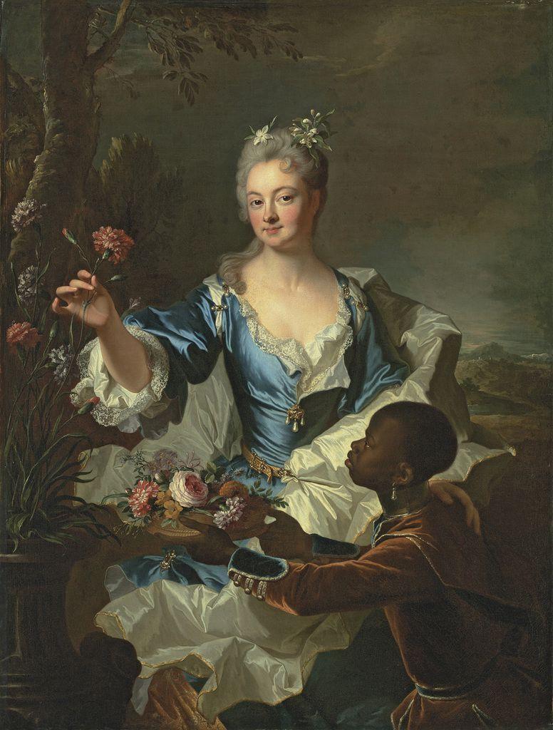 Hyacinthe Rigaud - portrait de la marquise de Louville, 1708 © Christie's