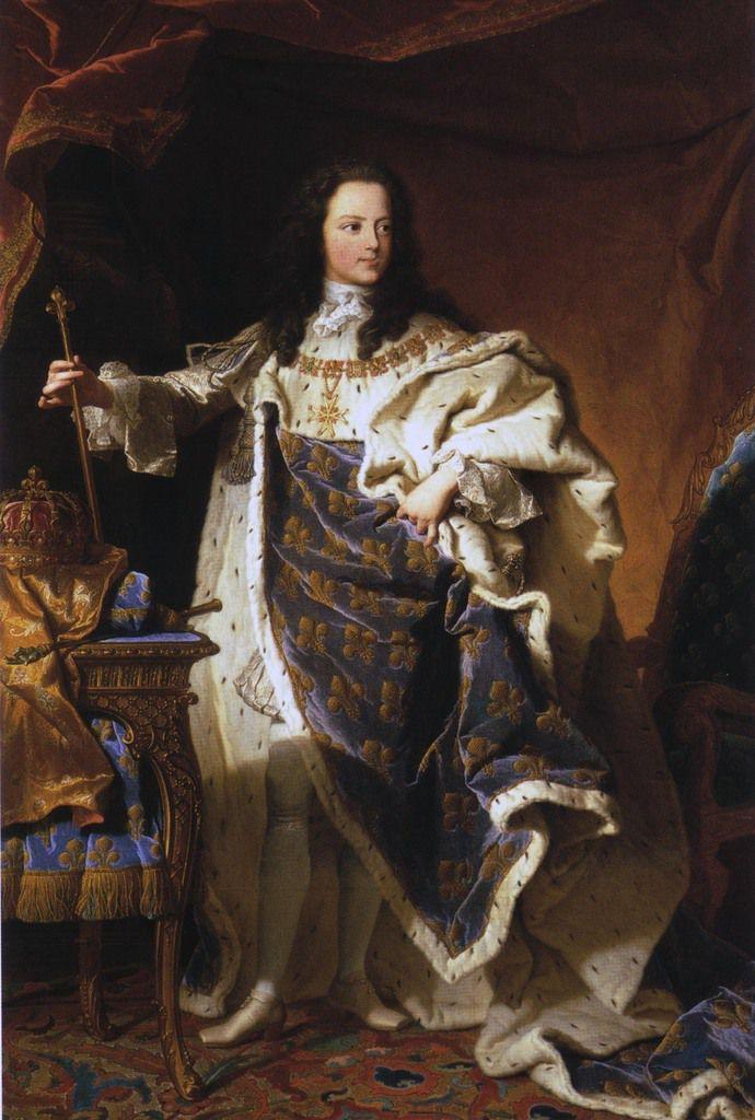 Hyacinthe Rigaud, portrait de Louis XV, 1721. Madrid, Palacio National © Patrimonio National