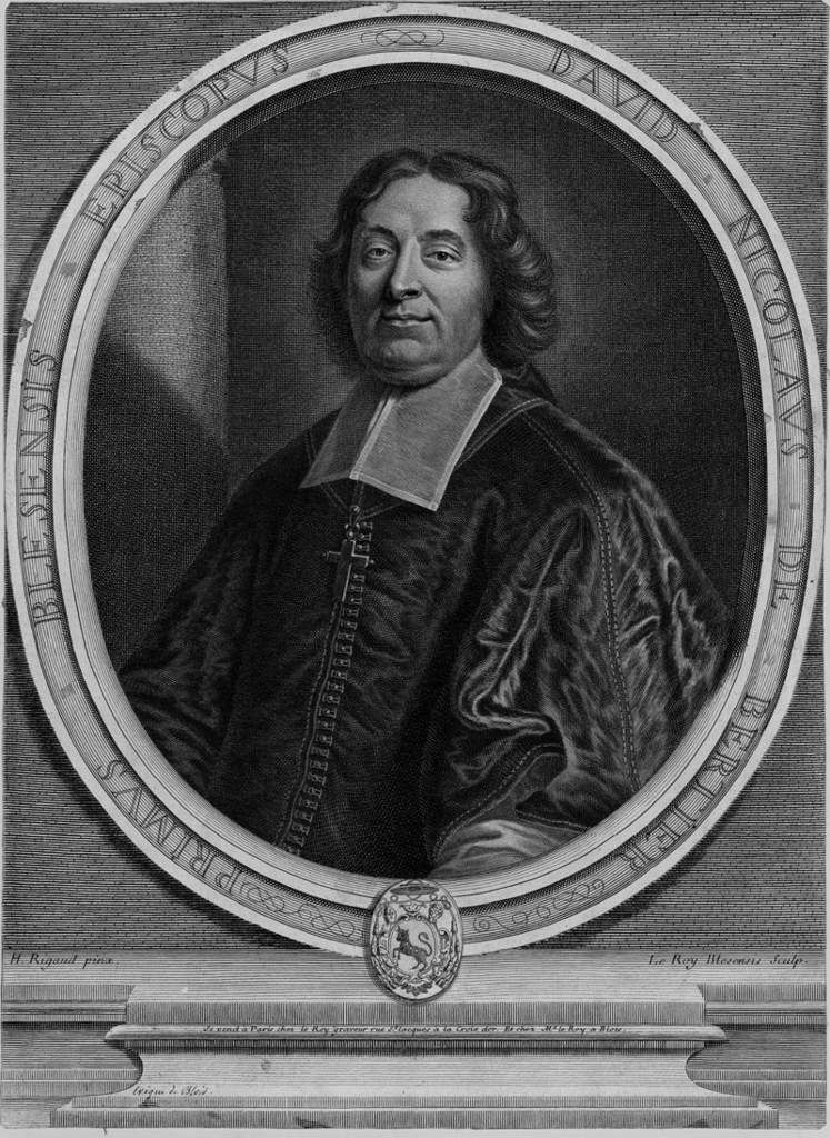 Pierre Le Roy d'après Hyacinthe Rigaud, portrait de David Nicolas de Bertier, évêque de Blois. 1709. coll. priv. © d.r.