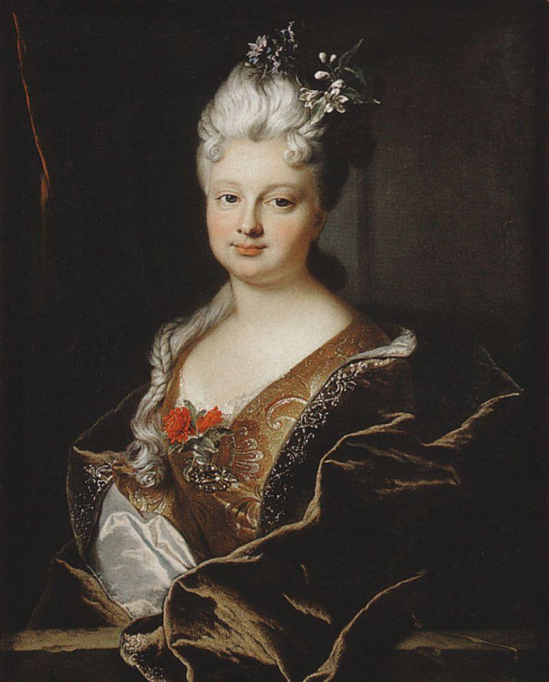Hyacinthe Rigaud, portrait de Marguerite Henriette de La Briffe, 1712/ Coll. priv. © photo Stéphan Perreau