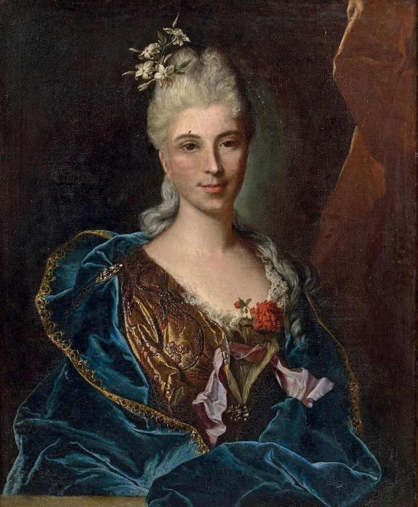 Hyacinthe Rigaud, portrait de femme inconnue, v. 1715 © cabinet Turquin