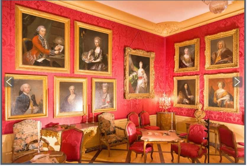Vue du salon des portraits au château de Prangins © photo d.r.