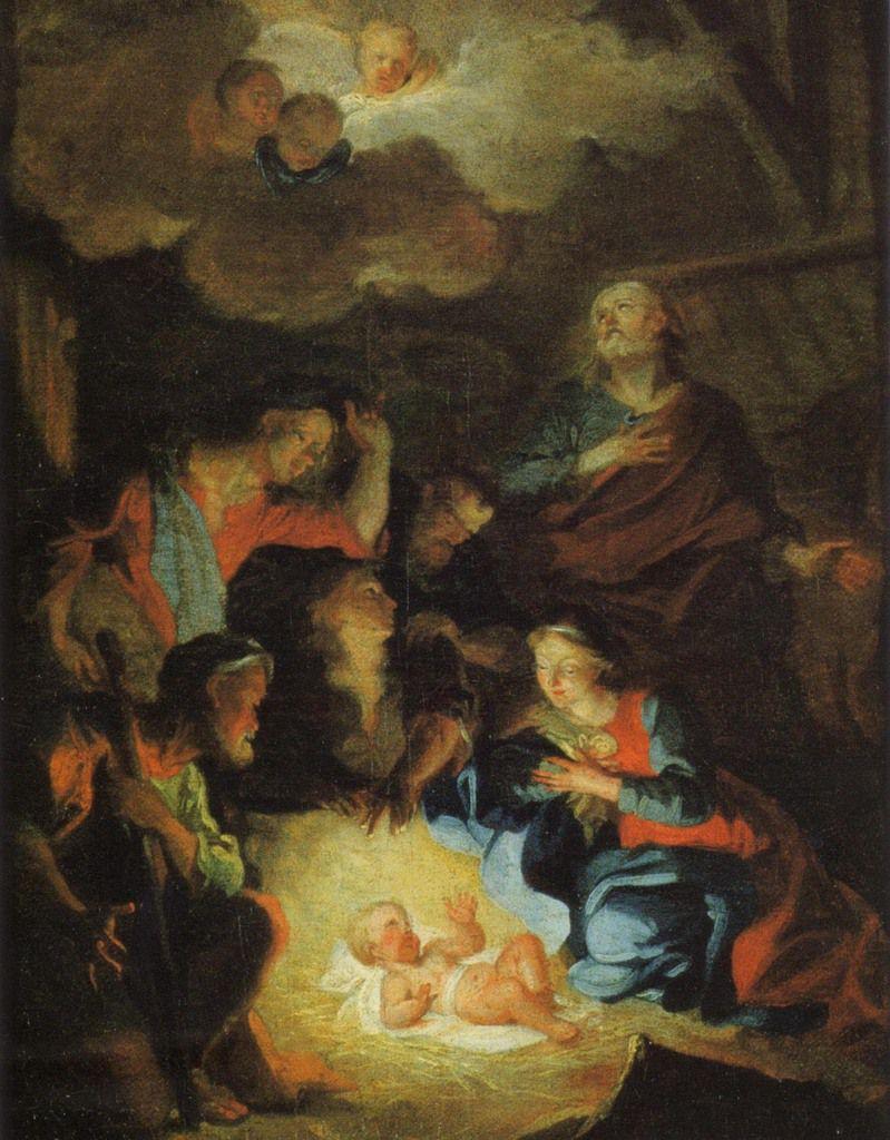 Hyacinthe Rigaud, La Nativité, v. 1687. Rennes, musée des beaux arts © mba de Rennes