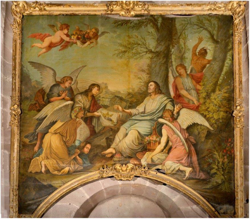 Anonyme français du XVIIIe siècle d'après Le Brun, le Christ servi par les anges. Rodez, cathédrale © Photo. Jean-François Peiré - DRAC Occitanie