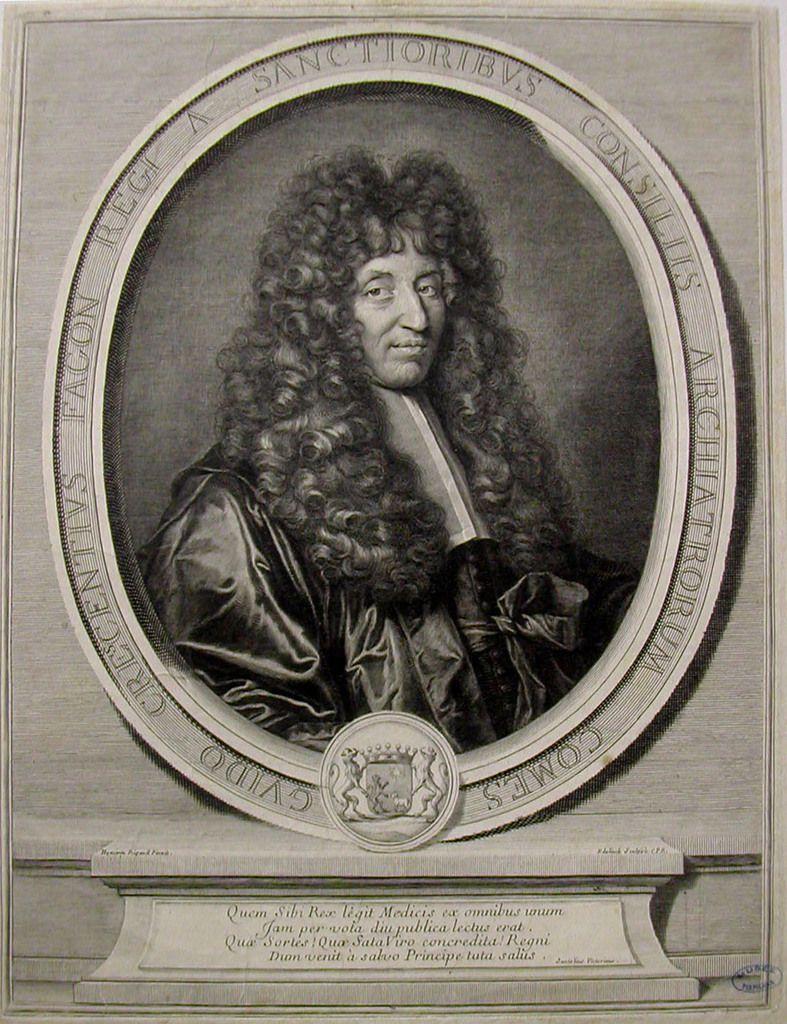Gérard Edelinck, portrait de Guy Crescent Fagon, 1695. Perpignan, musée Rigaud © Stéphan Perreau