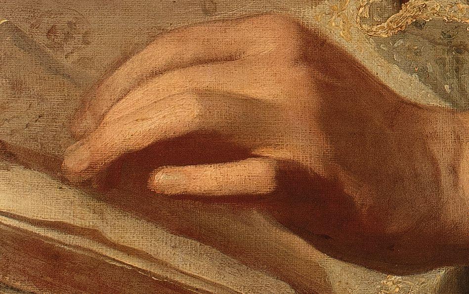 Hyacinthe Rigaud, portrait d'Alexandre Passerat, v. 1700 (détail). coll. priv. © ARA / Stéphan Perreau