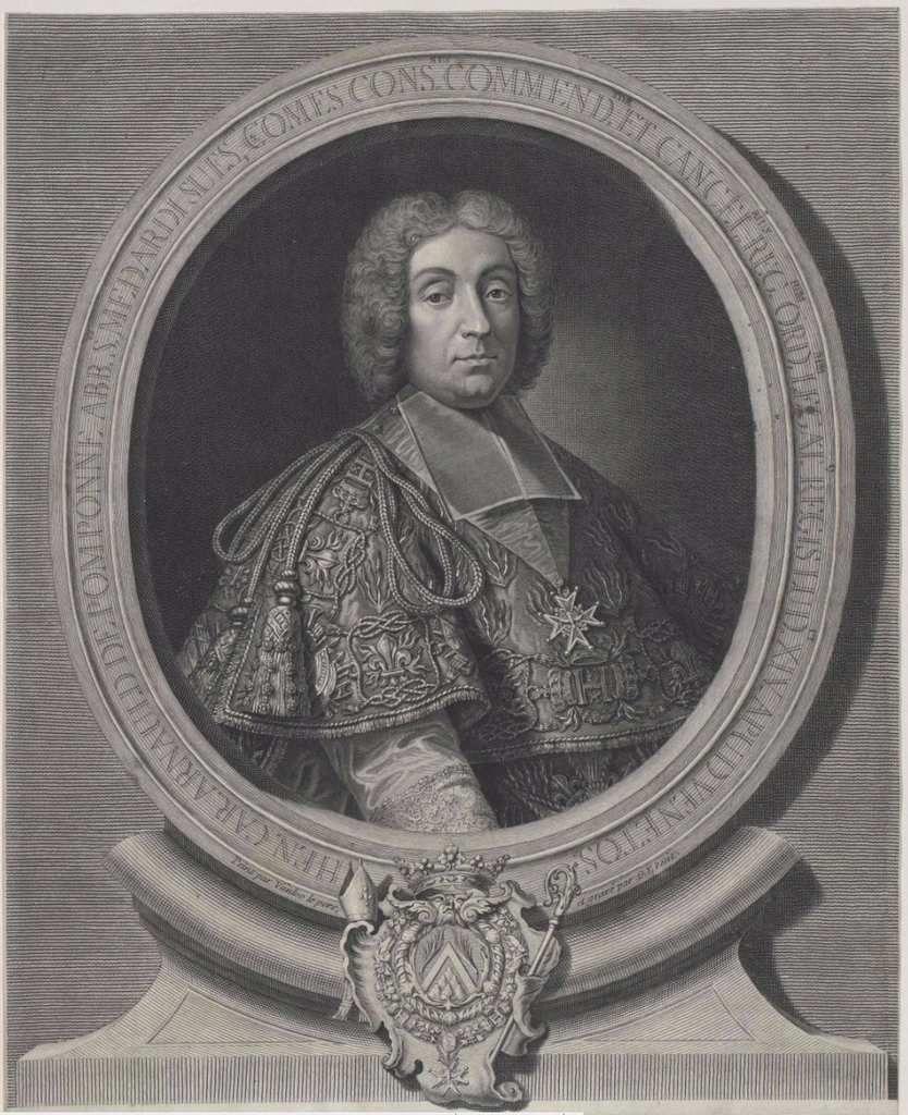 Gilles Edme Petit d'après Jean-Baptiste Van Loo, portrait de l'abbé de Pomponne comme ambassadeur. Coll. priv. © Stéphan Perreau