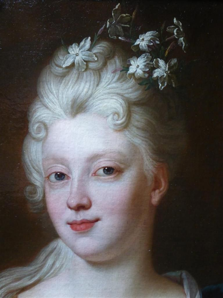 Hyacinthe Rigaud, portrait de Mademoiselle de Fleury (détail), 1715. Paris, coll. part © Stephan Perreau