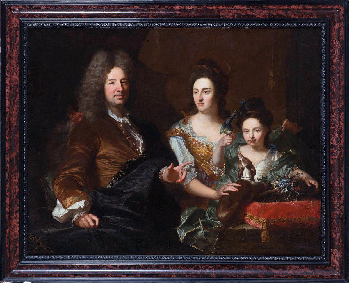 Anonyme d'après Hyacinthe Rigaud, portrait de famille, après 1706 © photo Vanderkindere Auctioneer