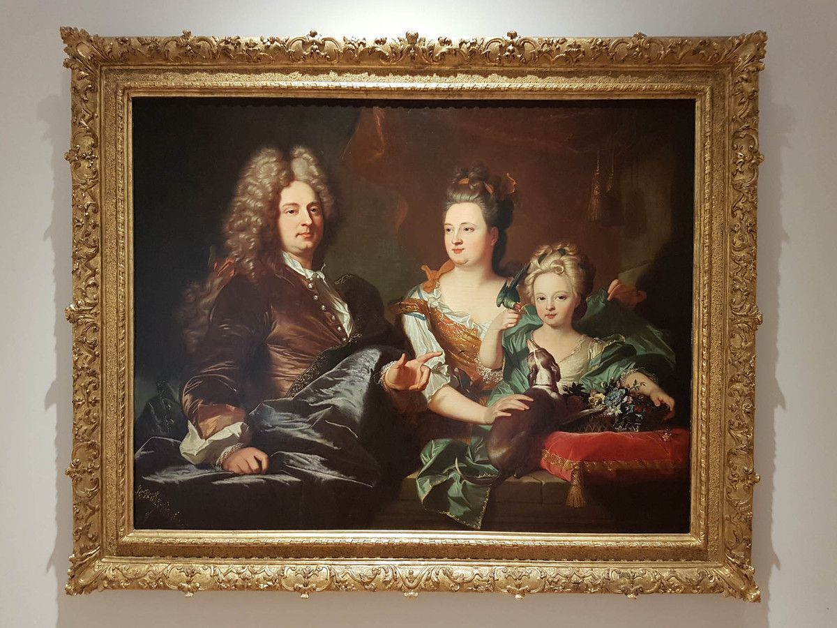 Hyacinthe Rigaud, portrait de la famille Le Juge, 1706. Perpignan, musée Rigaud © photo Stéphan Perreau