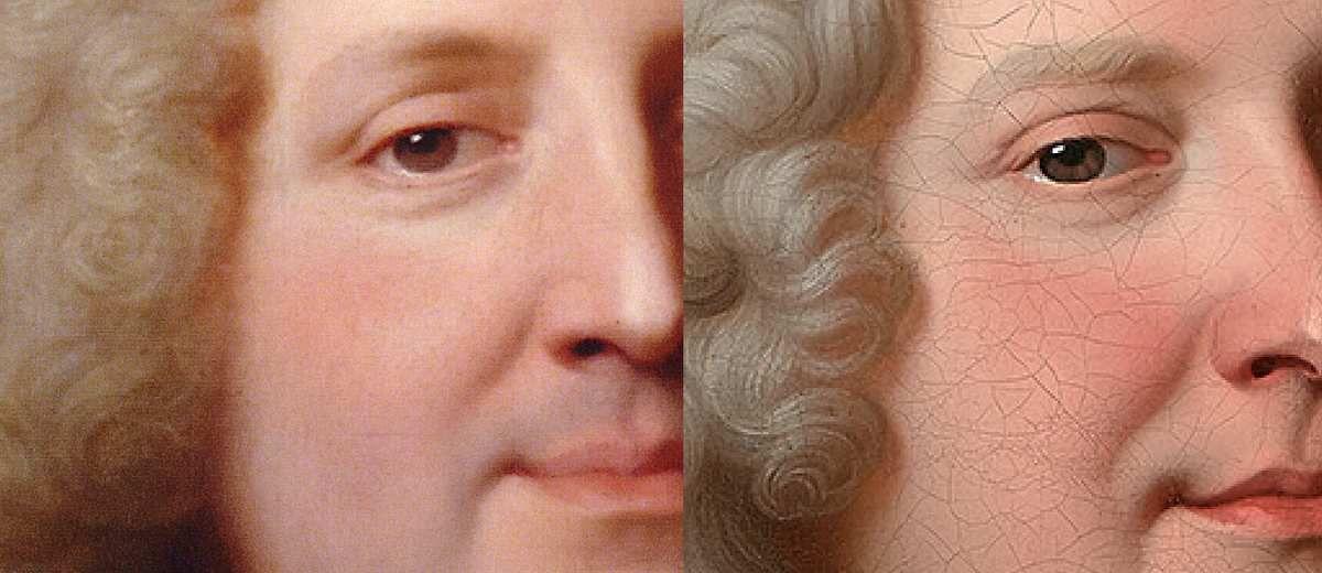 Même disposition de ci-dessus : détail des visages.