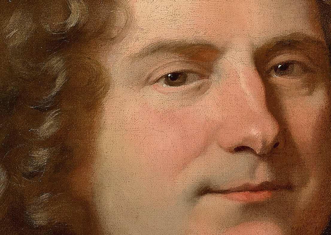 Hyacinthe Rigaud, portrait d'homme (détail), v. 1690-1695. Collection particulière © Photo Sotheby's