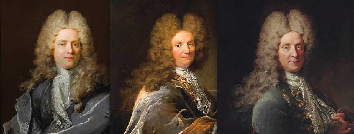 Robert Le vrac de Tournières, portraits d'hommes (détails). Photo d.r.