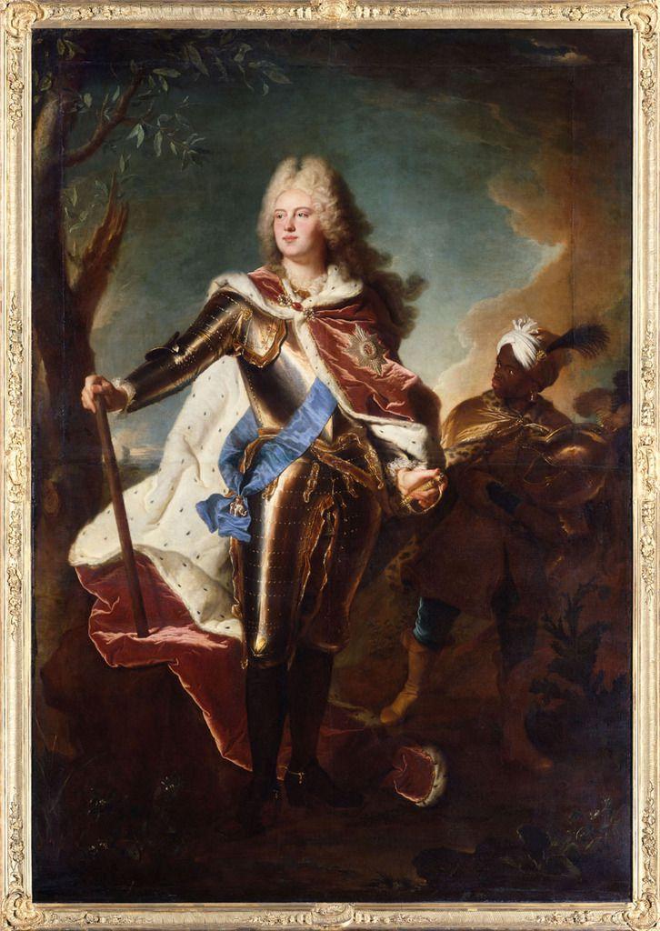 Hyacinthe Rigaud, portrait de Frédéric Auguste II, roi de Pologne, 1715. Dresde, Staatlische Kunstsammlungen Dresden, Gemälde Galerie Alte Meister. Inv. N° 760 © Staatlische Kunstsammlungen Dresden.