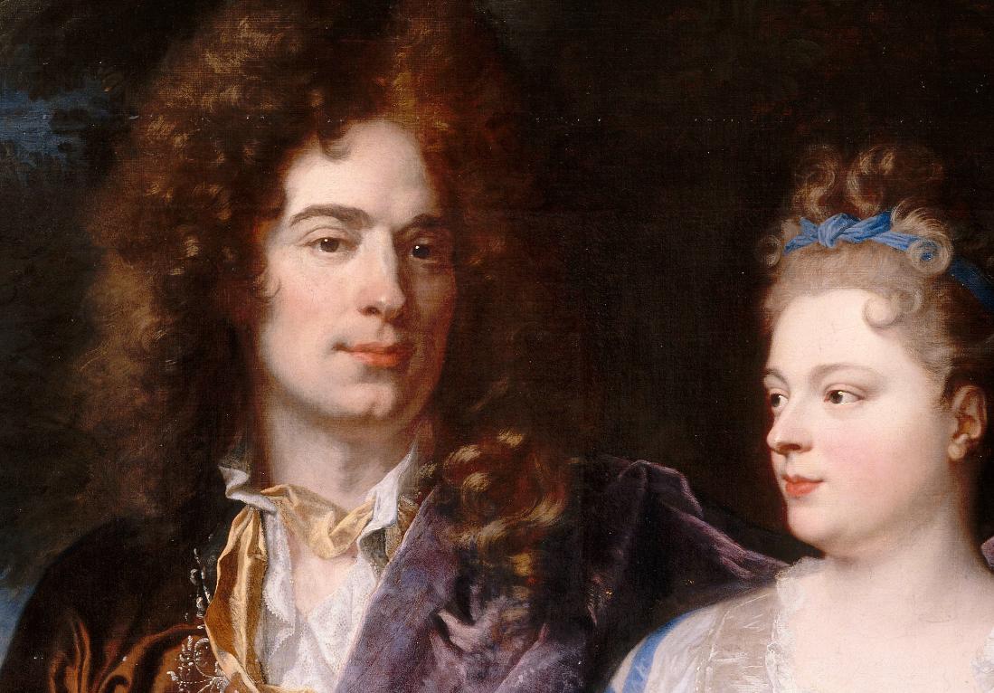 Hyacinthe Rigaud, portrait de Pierre-Frédéric Léonard et de son épouse, Marie-Anne des Essarts (détail), 1692. Paris, musée du Louvre © pho Stéphan Perreau
