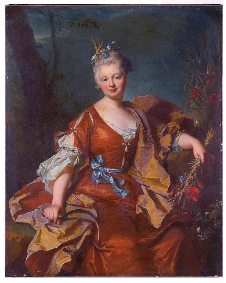 Hyacinthe Rigaud : portrait de la comtesse de Selles - 1712, collection privée © Stéphan Perreau