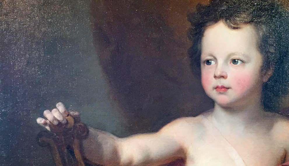 Hyacinthe Rigaud, enfant sous la figure d'Apollon, v. 1710 (détail). Paris, collection particulière © d.r.