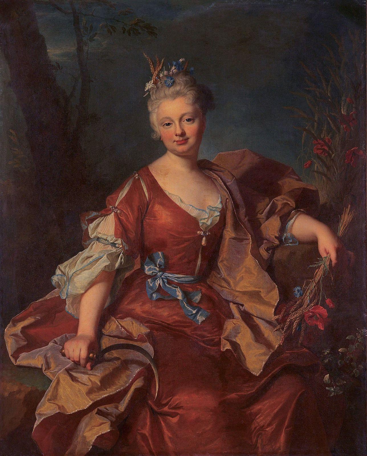 Hyacinthe Rigaud, portrait de Marguerite Henriette de La Briffe, 1712. Collection particulière © photo d.r.