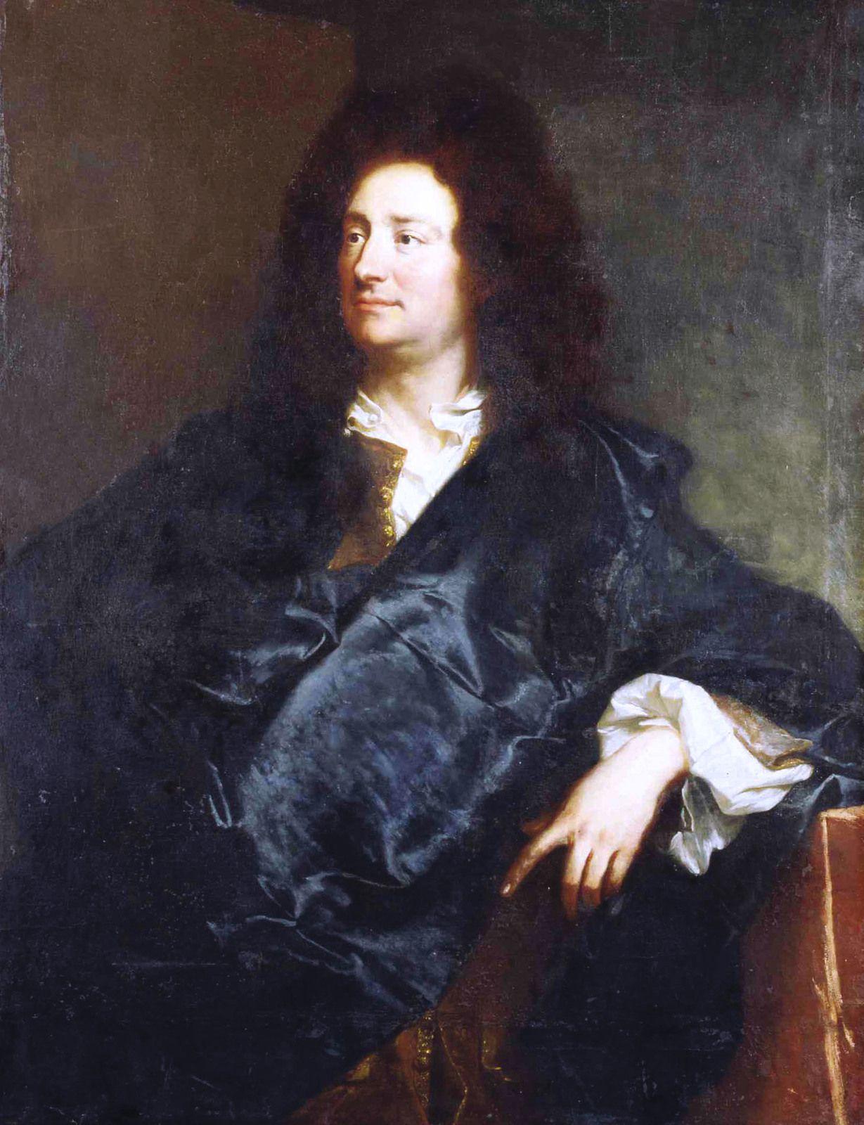 Hyacinthe Rigaud, portrait de Charles de La Fosse, 1691. Berlin, Scloss Charlottenburg © d.r.