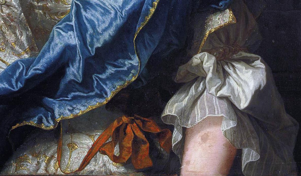 Hyacinthe Rigaud - portrait de jeune femme - 1723 (détail) - Parme, collection privée © Milan Sotheby's images
