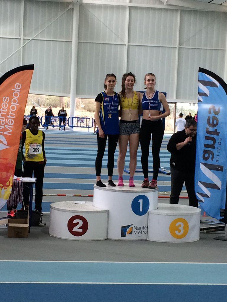 Javote GUERET vice championne régionale sur 800m