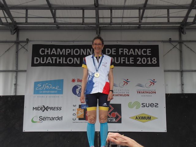 France Duathlon : Christine HAUDEBOURG championne !