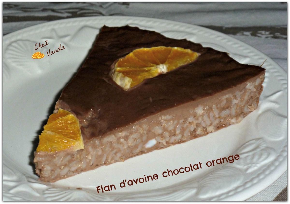 Flan d'avoine chocolat orange