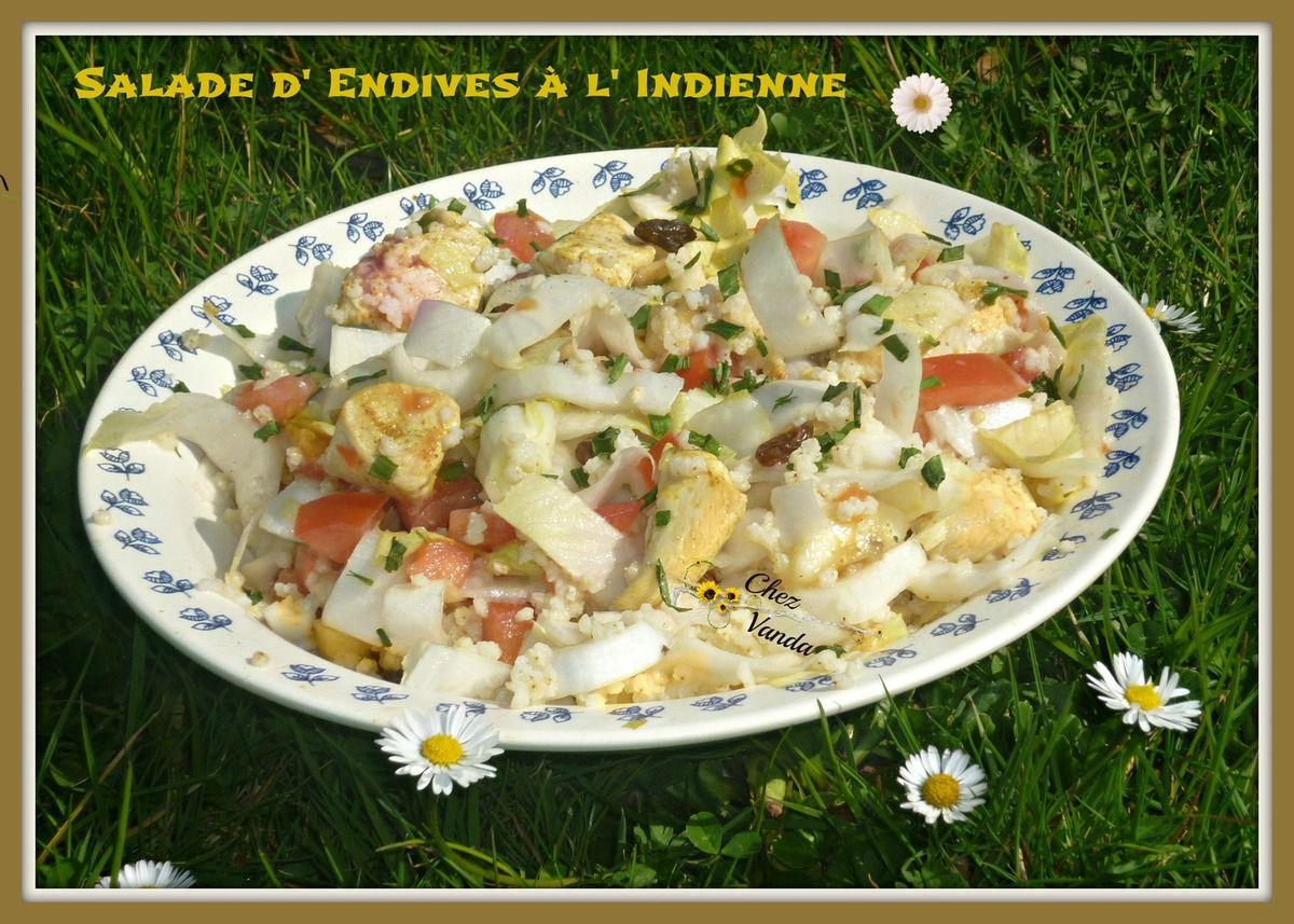 Salade indienne aux endives (pour 1 pers)