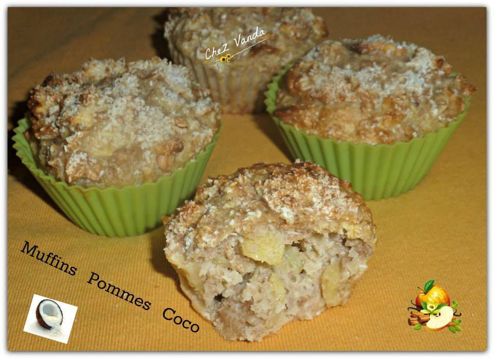Muffins  pomme coco