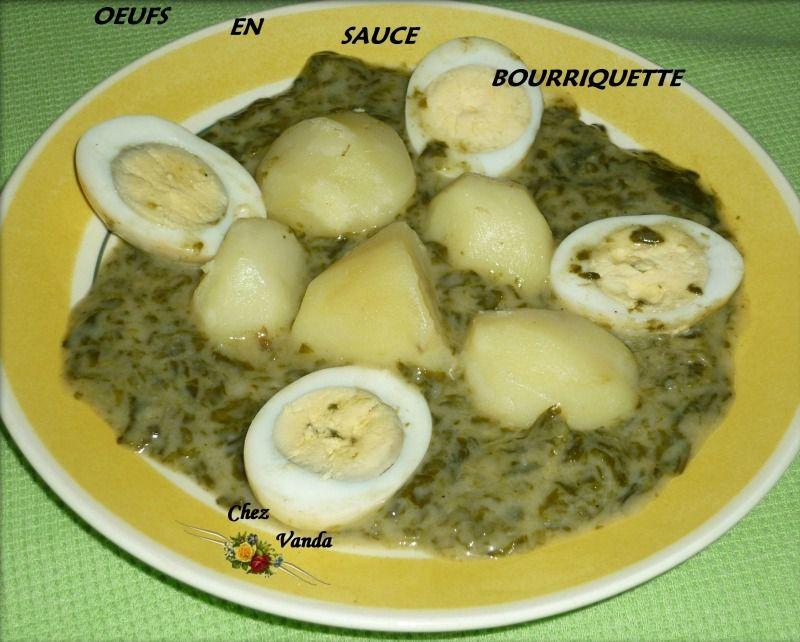 Oeufs en sauce bourriquette
