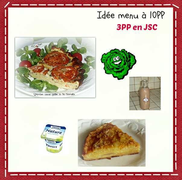 Menu du dîner du jour  à 10PP