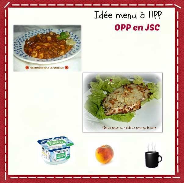 Idée menu à 11PP et 0PP en JSC
